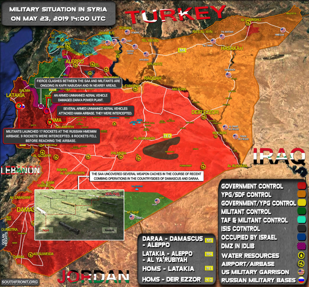 Military Situation In Syria On May 23, 2019 (Map Update)