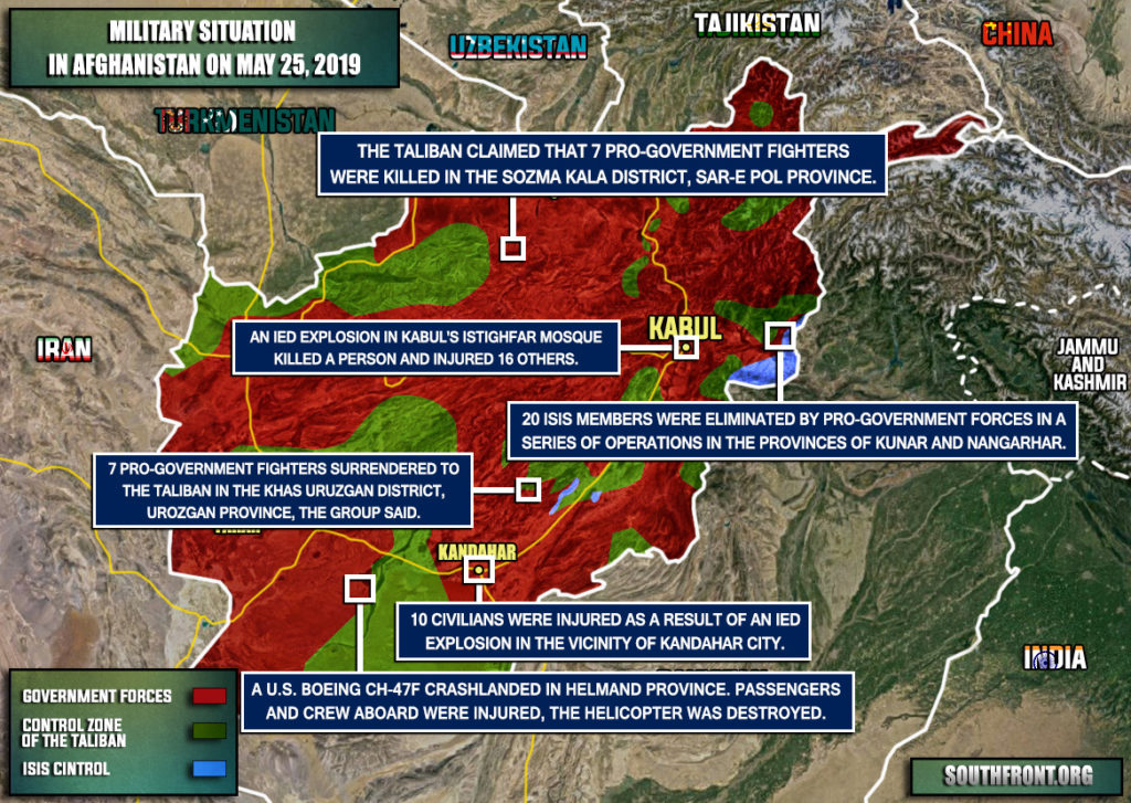 Military Situation In Afghanistan On May 25, 2019 (Map Update)