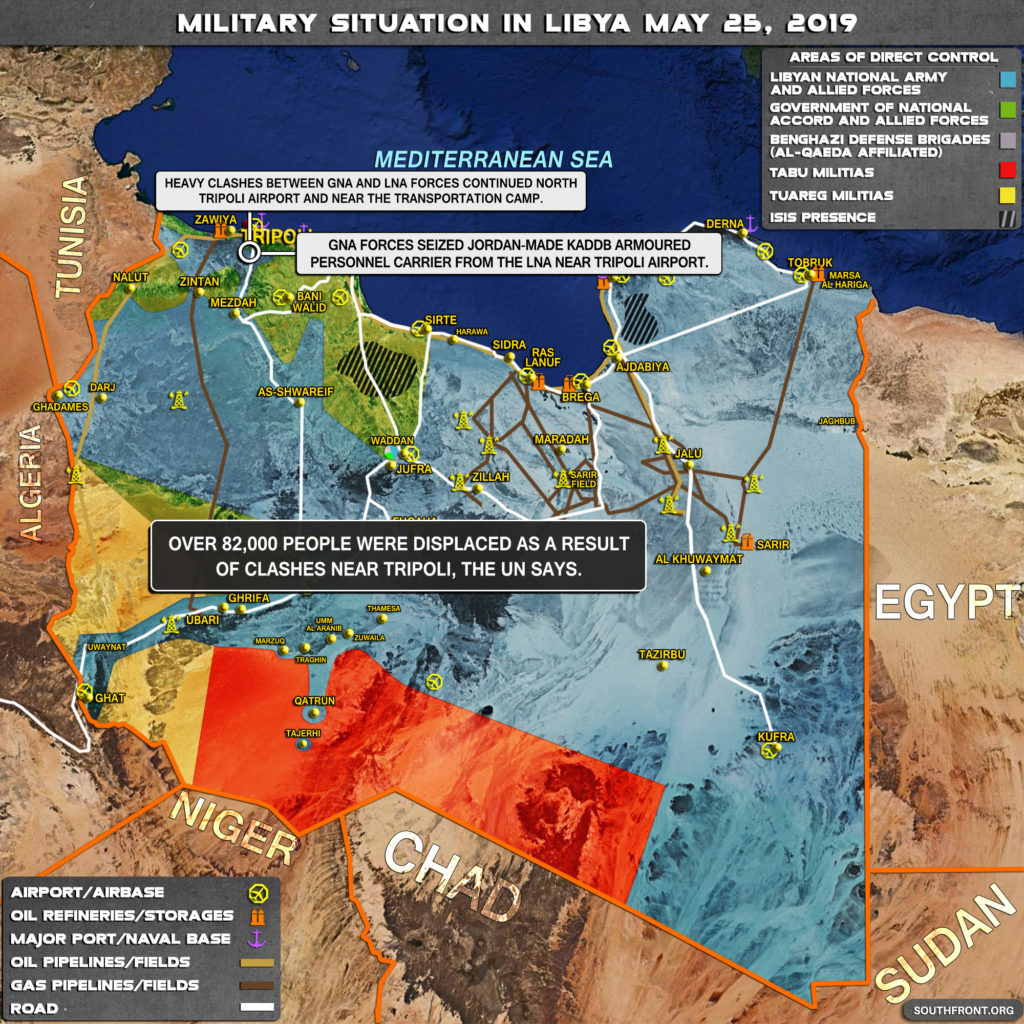 Map Update: Military Situation In Libya On May 25, 2019
