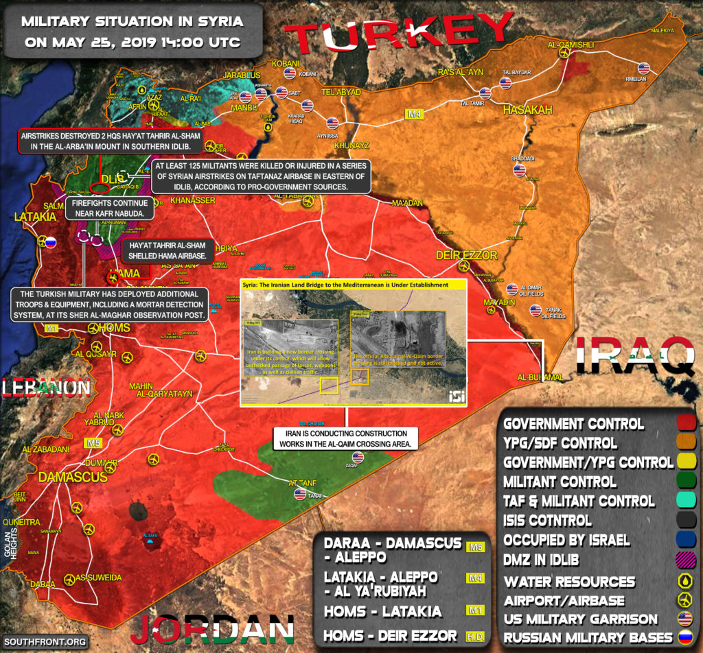 Military Situation In Syria On May 25, 2019 (Map Update)
