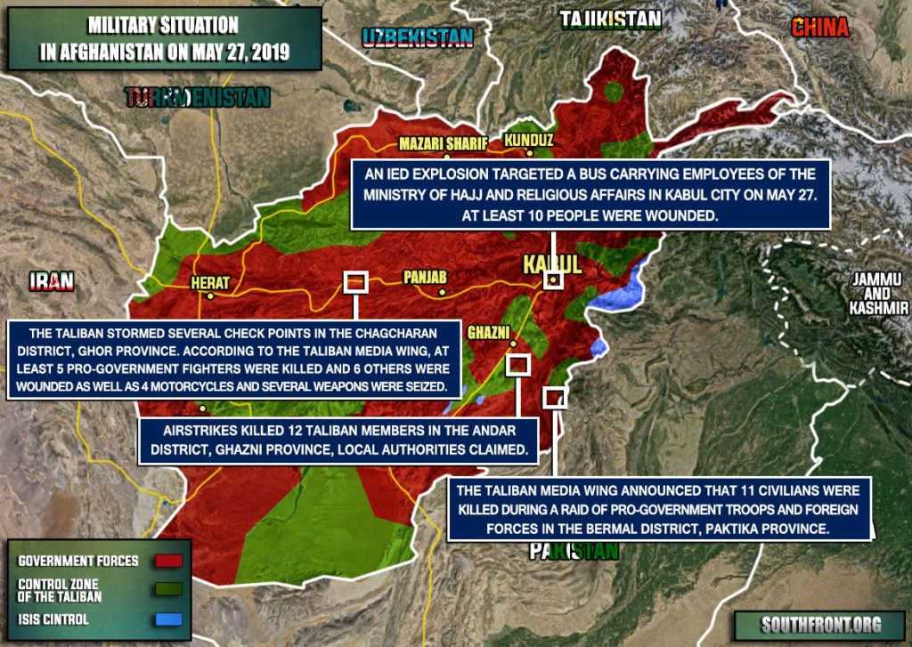 Military Situation In Afghanistan On May 27, 2019 (Map Update)