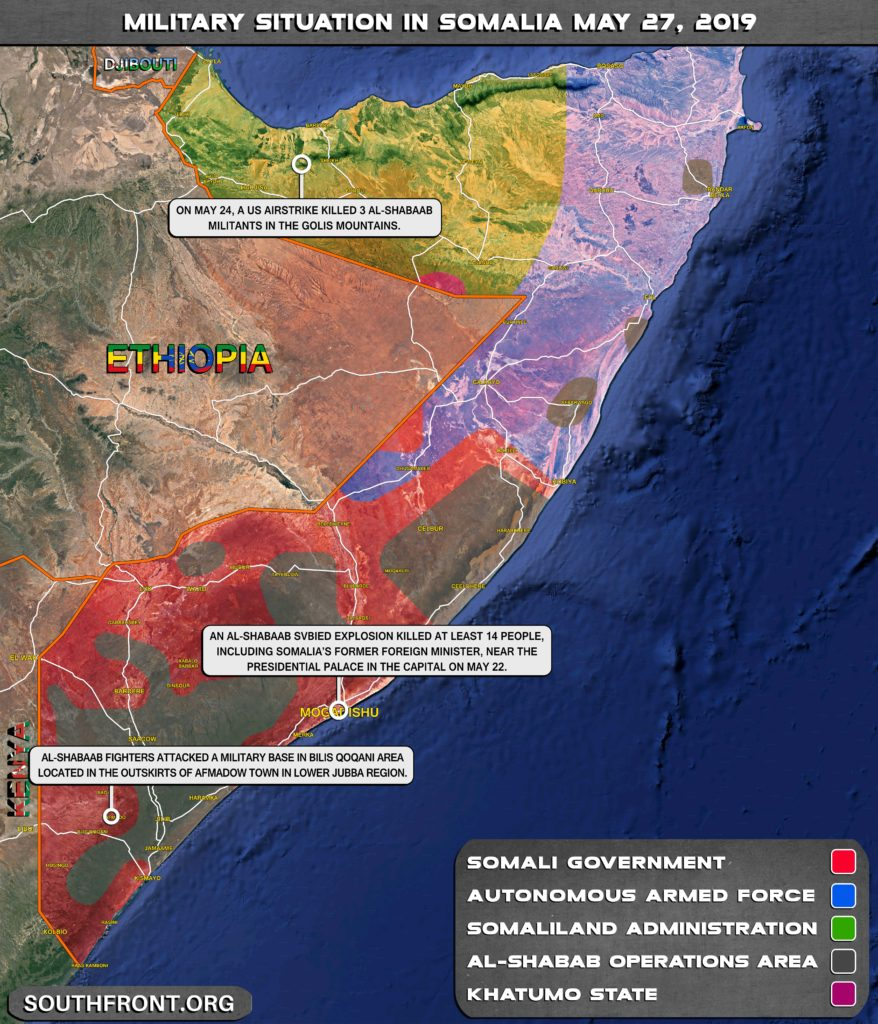 US Airstrike Killed 3 Al-Shabaab Militnats In Somalia (Map)