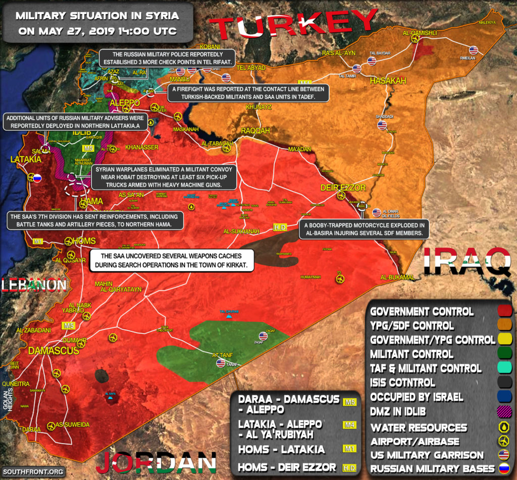 Military Situation In Syria On May 27, 2019 (Map Update)