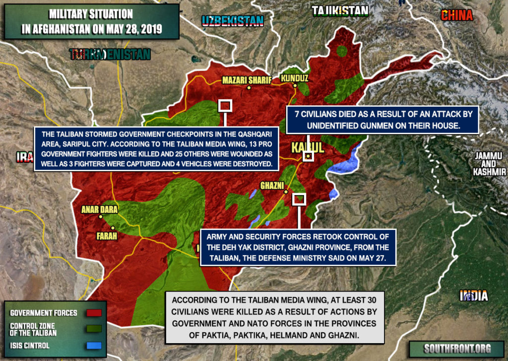 Military Situation In Afghanistan On May 28, 2019 (Map Update)