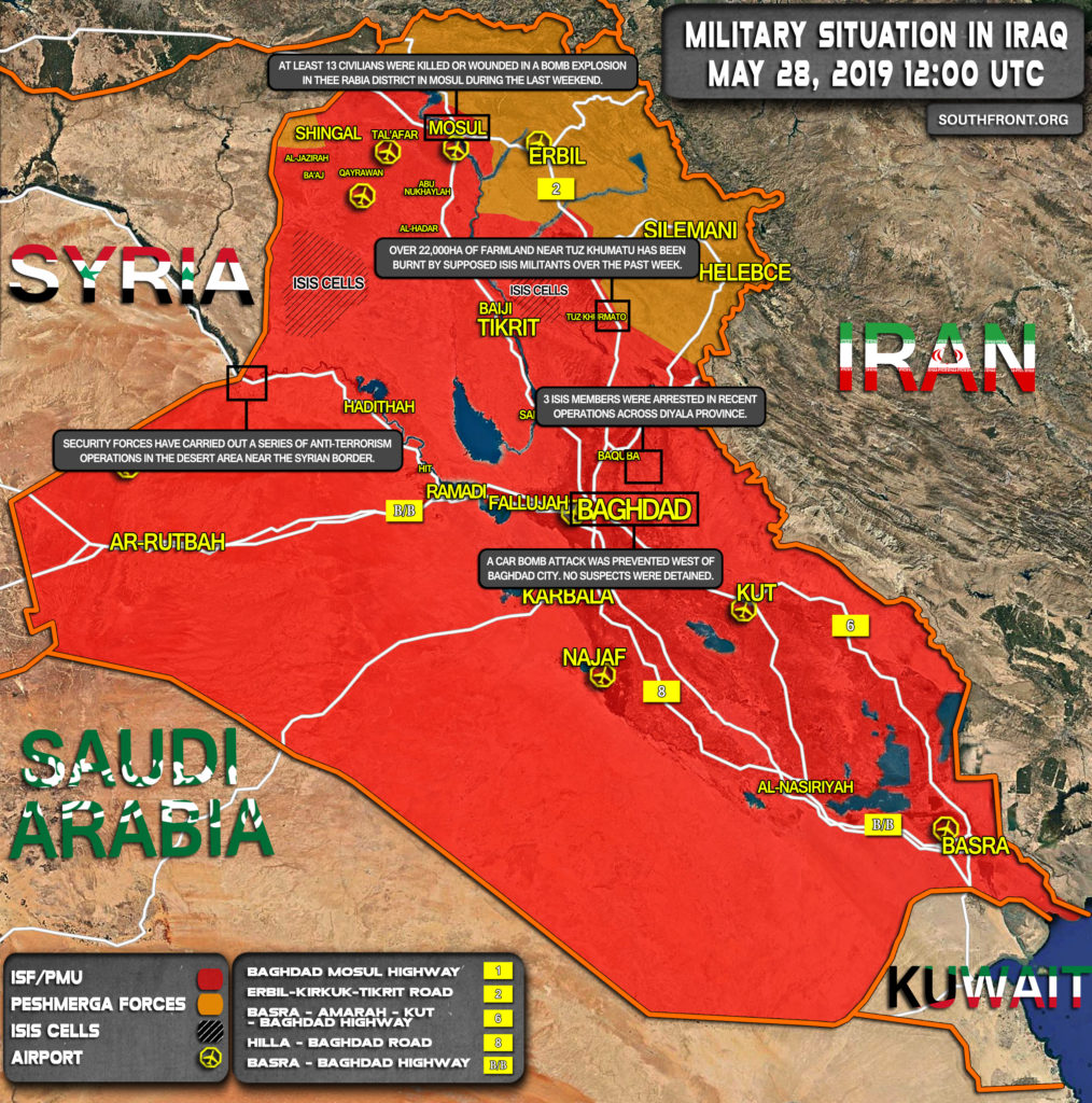 Map Update: Military Situation In Iraq On May 28, 2019