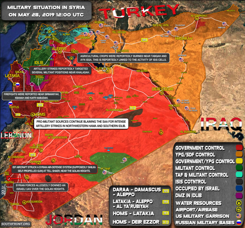 Military Situation In Syria On May 28, 2019 (Map Update)