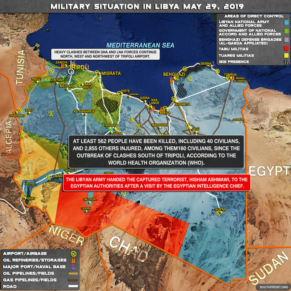 Map Update: Military Situation In Libya On May 29, 2019
