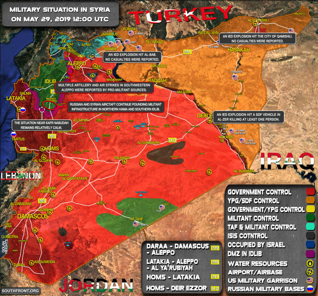 Military Situation In Syria On May 29, 2019 (Map Update)