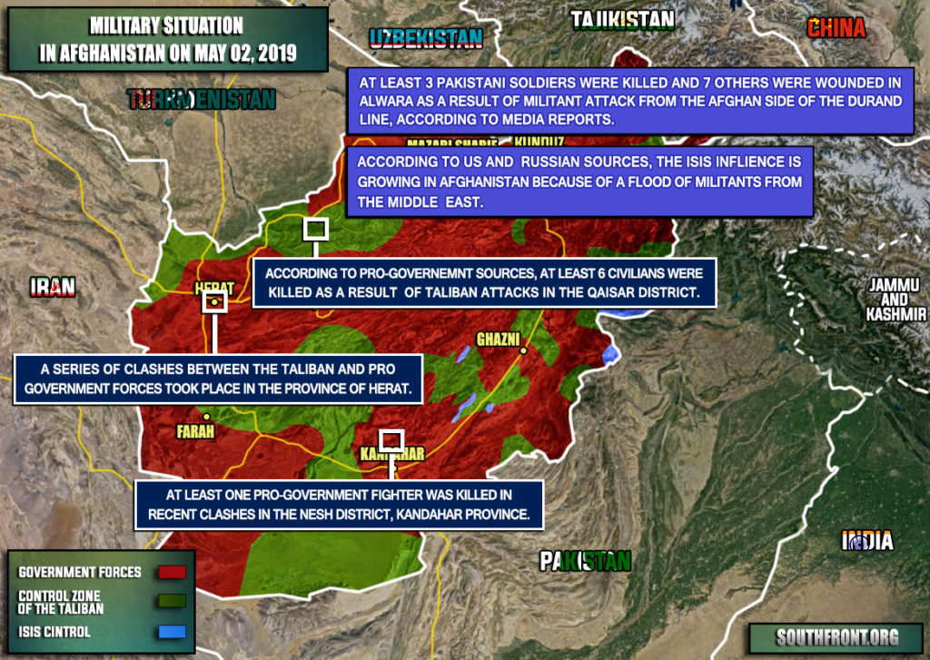 Military Situation In Afghanistan On May 2, 2019 (Map Update)