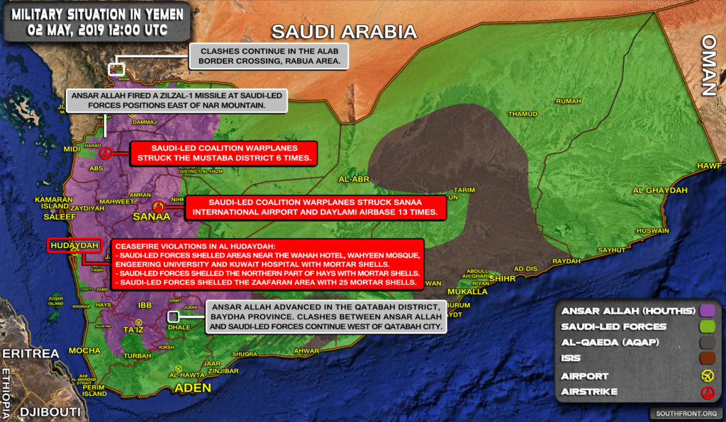 Military Situation In Yemen On May 2, 2019 (Map Update)