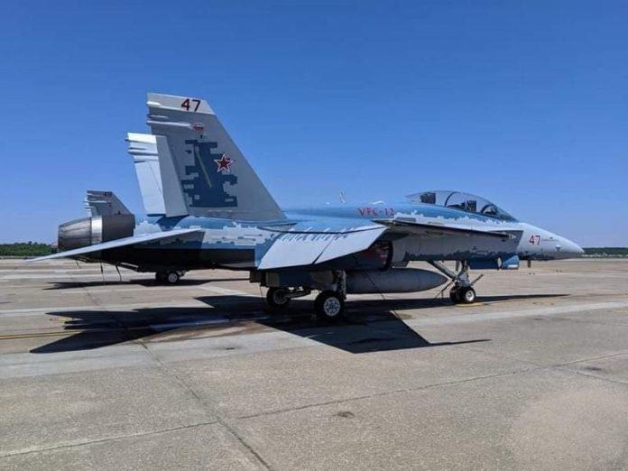 USAF Paints F-16 Jet With Russian Color Scheme For 'Training Purposes'