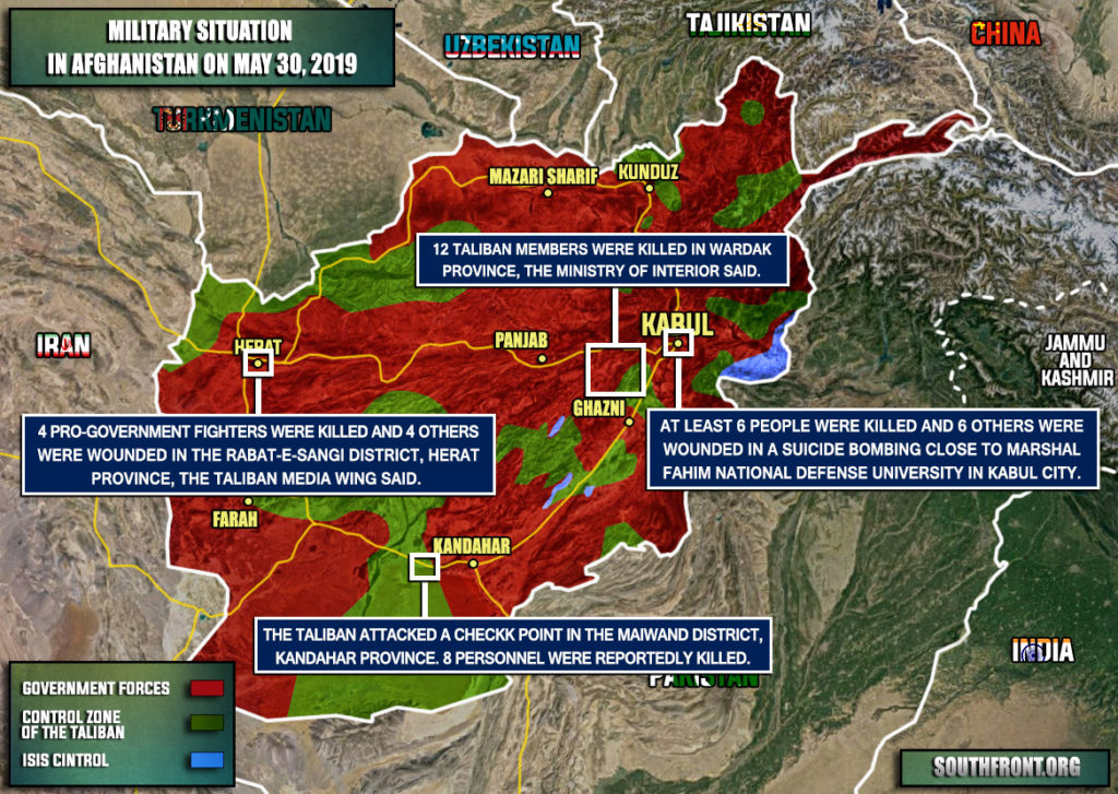 Military Situation In Afghanistan On May 30, 2019 (Map Update)