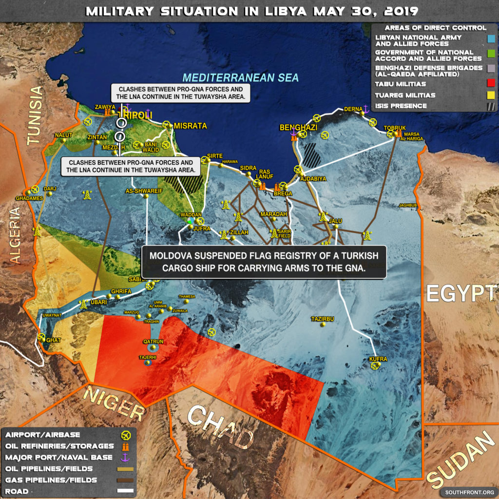 Map Update: Military Situation In Libya On May 30, 2019