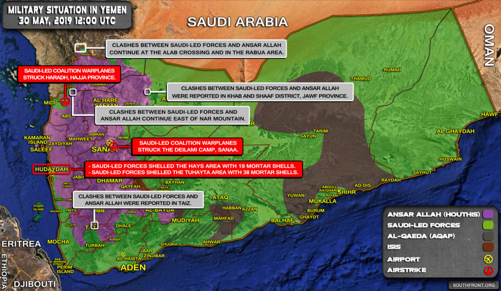Military Situation In Yemen On May 30, 2019 (Map Update)
