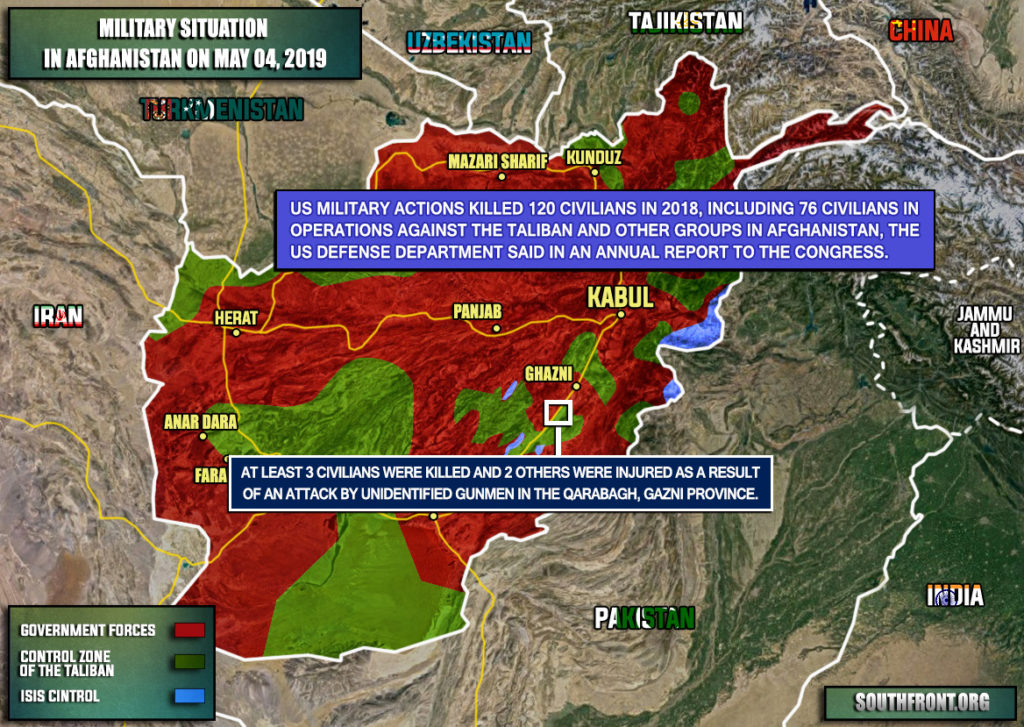 Military Situation In Afghanistan On May 4, 2019 (Map Update)