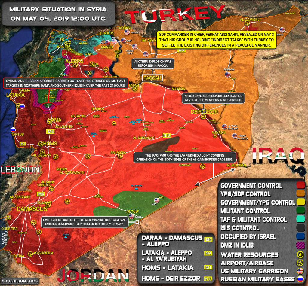 Military Situation In Syria On May 4, 2019 (Map Update)