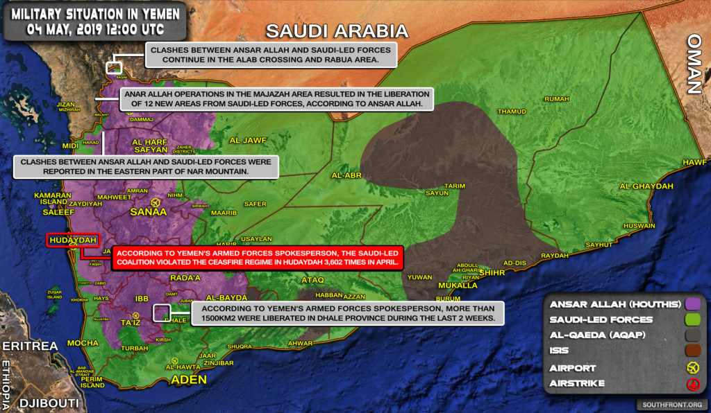 Military Situation In Yemen On May 4, 2019 (Map Update)