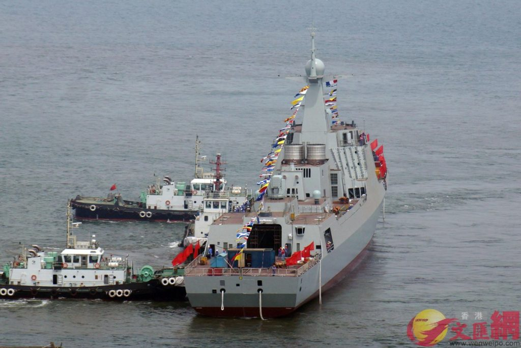In Photos: China Launches Two Type-052D Guided Missile Destroyers