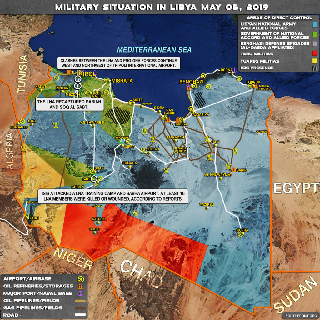 Military Situation In Libya On May 5, 2019 (Map Update)
