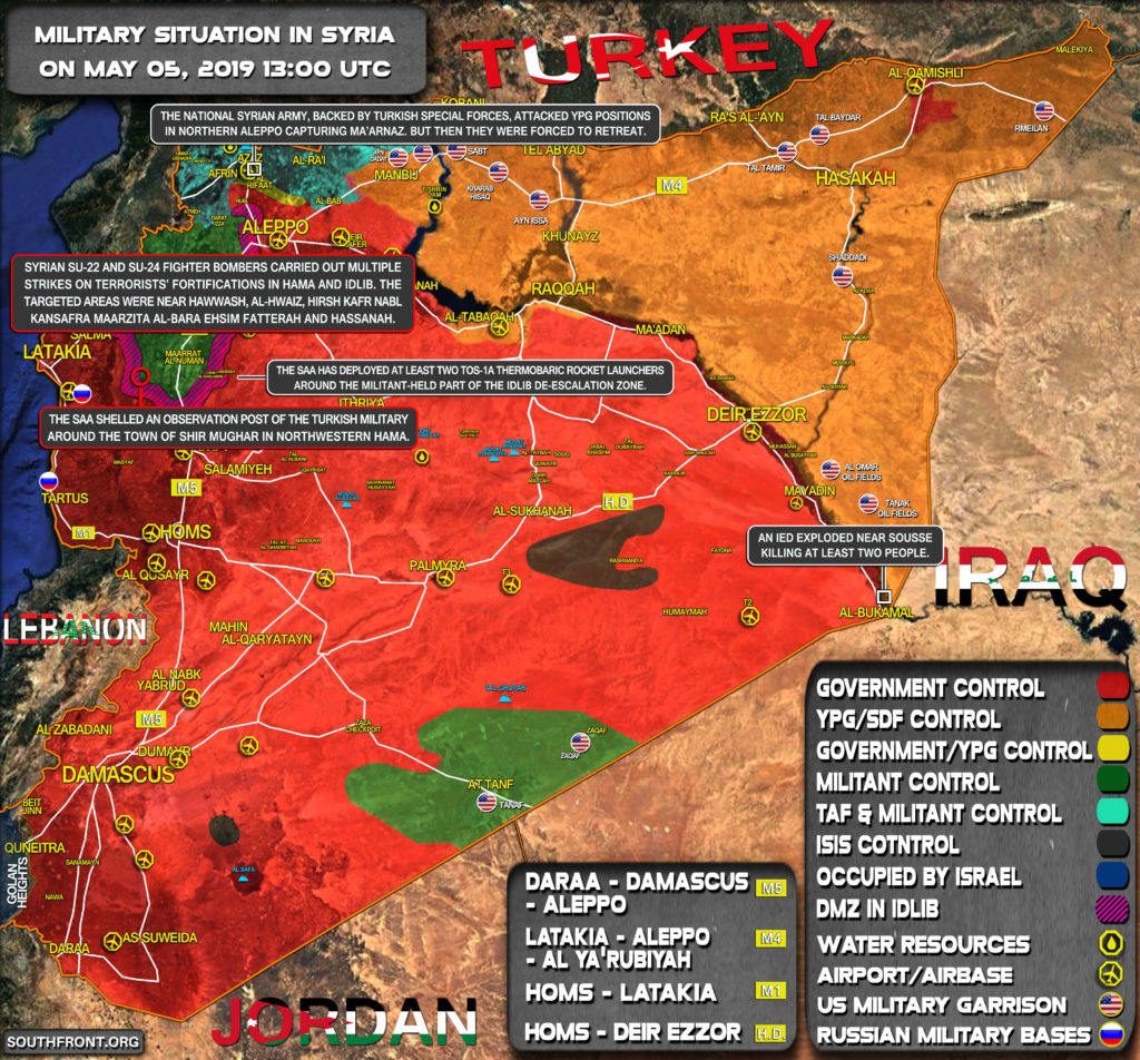 Military Situation In Syria On May 5, 2019 (Map Update)