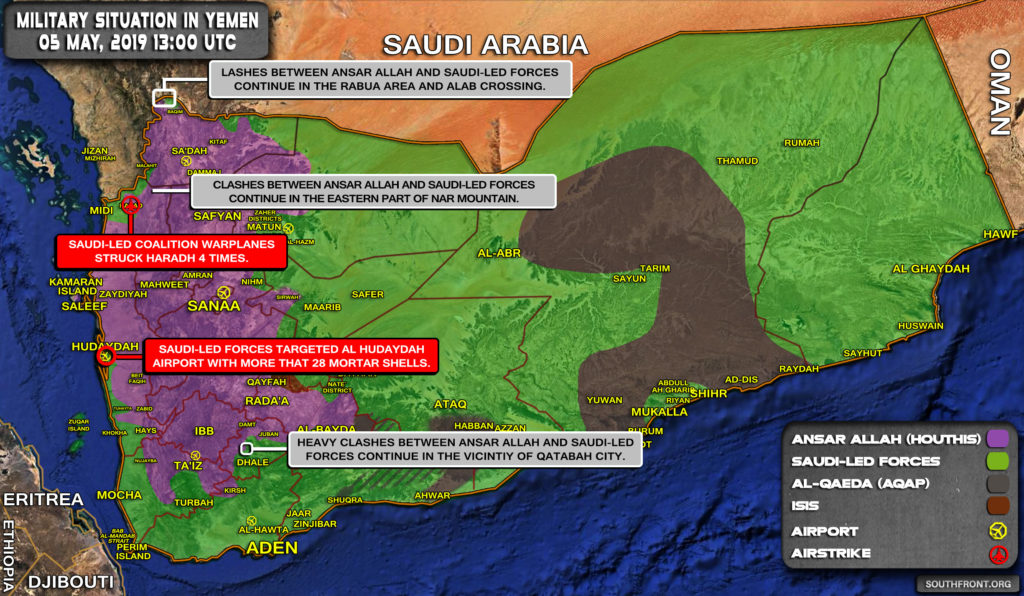Military Situation In Yemen On May 5, 2019 (Map Update)