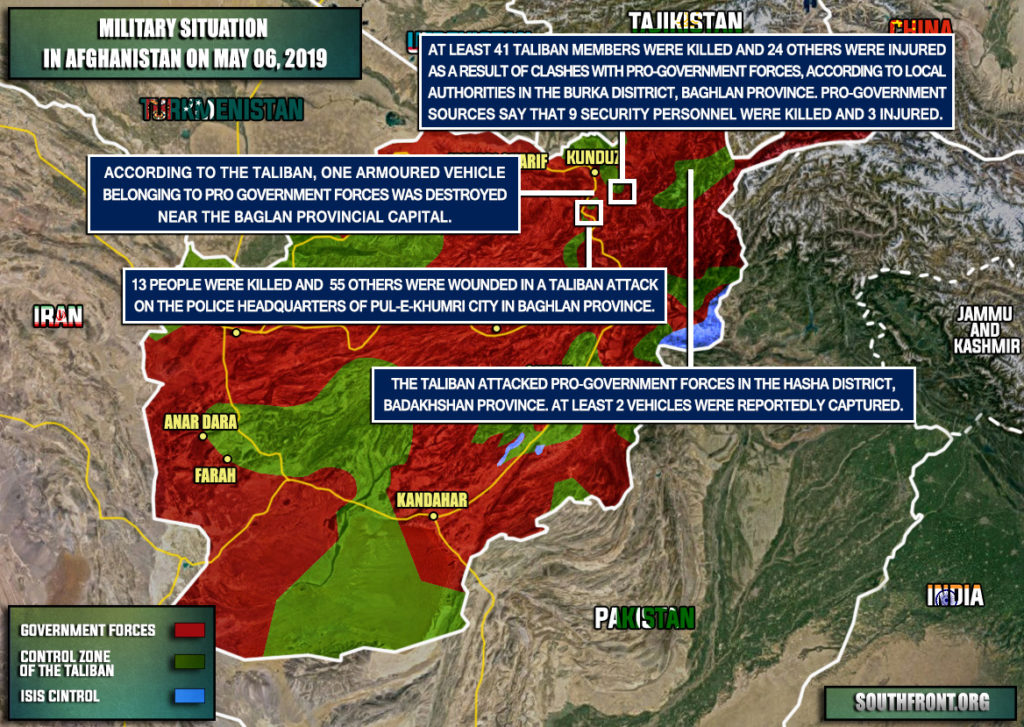 Military Situation In Afghanistan On May 6, 2019 (Map Update)