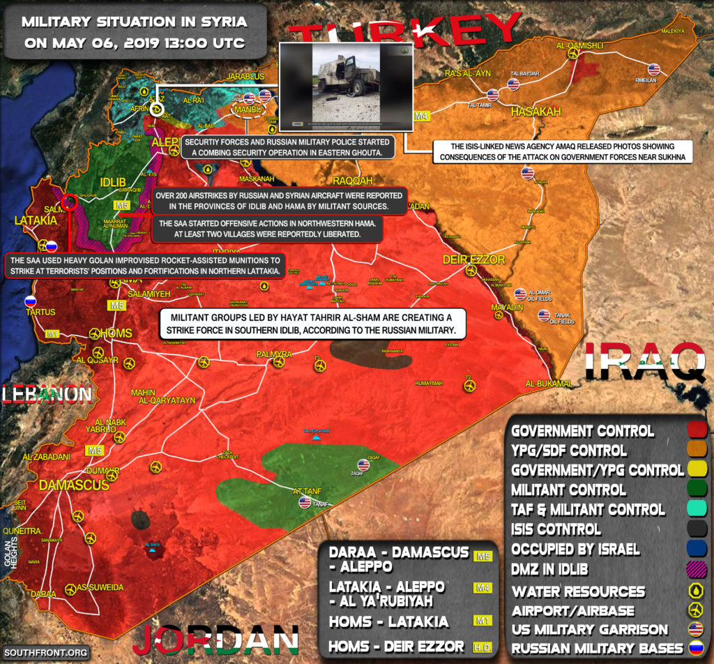 Military Situation In Syria On May 6, 2019 (Map Update)