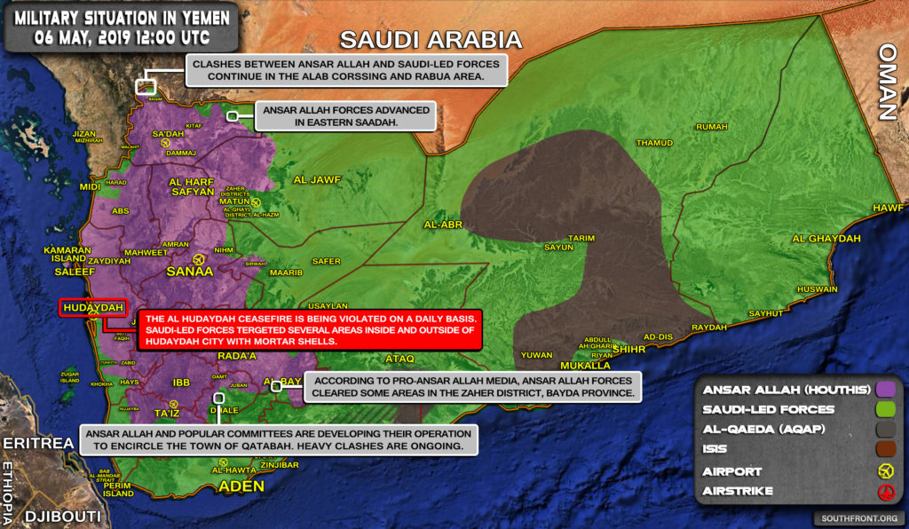Military Situation In Yemen On May 6, 2019 (Map Update)