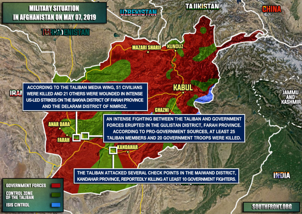 Military Situation In Afghanistan On May 7, 2019 (Map Update)