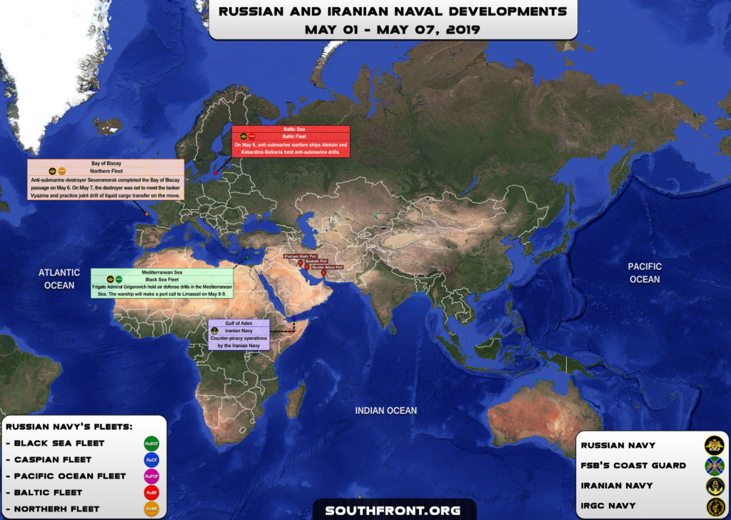 Iranian, Russian Naval Developments On May 1-7, 2019 (Map)