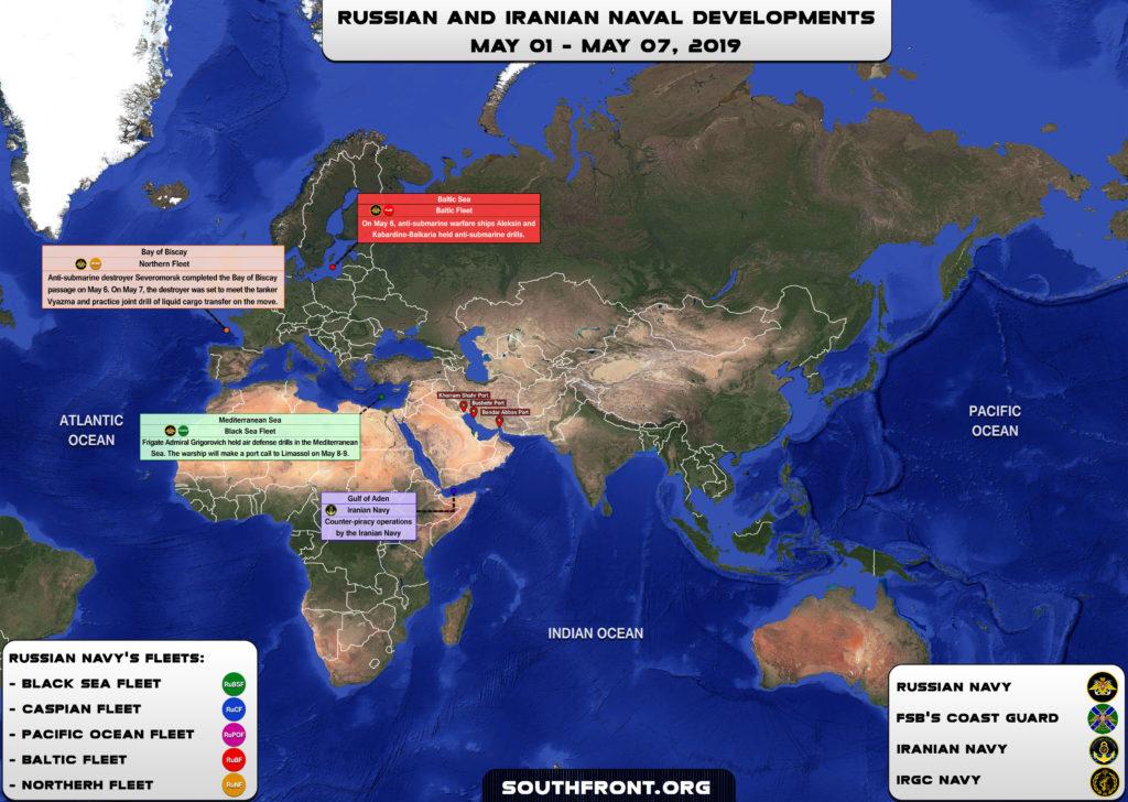 Iranian, Russian Naval Developments On May 1-7, 2019 (Map)