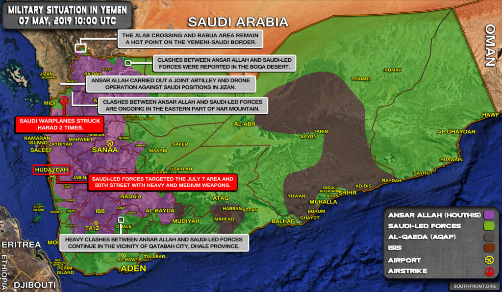 Military Situation In Yemen On May 7, 2019 (Map Update)