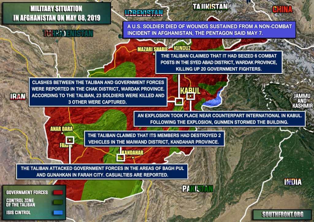 Military Situation In Afghanistan On May 8, 2019 (Map Update)