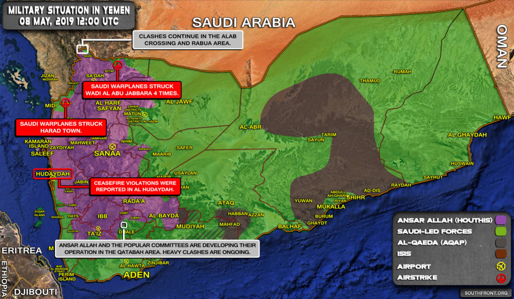 Military Situation In Yemen On May 8, 2019 (Map Update)