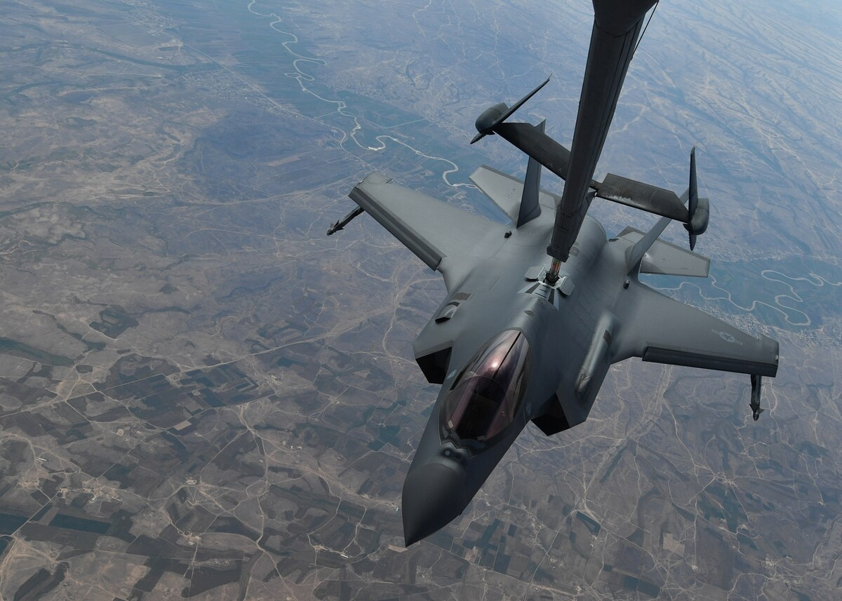 US Air Force Carries Out Its First Ever Airstrike With F-35As. Trget - ISIS Cave