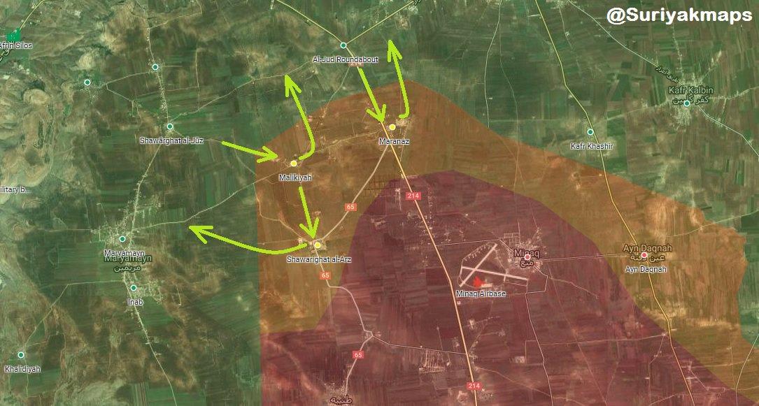 Kurdish Forces Recaptured Ma'arnaz, Killed Dozens Of Turkish-Backed Militants (Map)