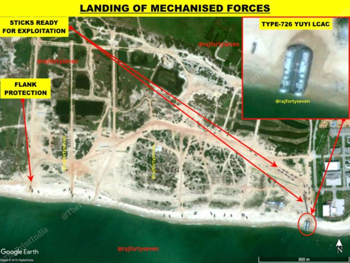 """Satellite Imagery Suggests The Chinese Navy Is Exercising A Mock """"Invasion of Taiwan"""""""