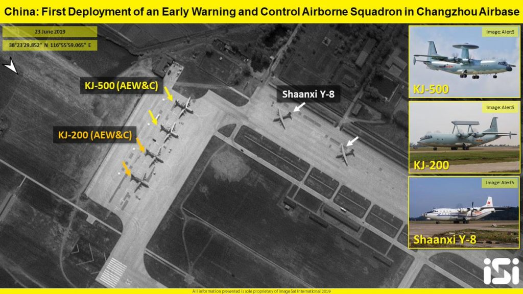 Satellite Images: China Deploys Early Warning And Control Airborne Aircraft And Fighter Jets To Reinforce Control Of Shipping Routes