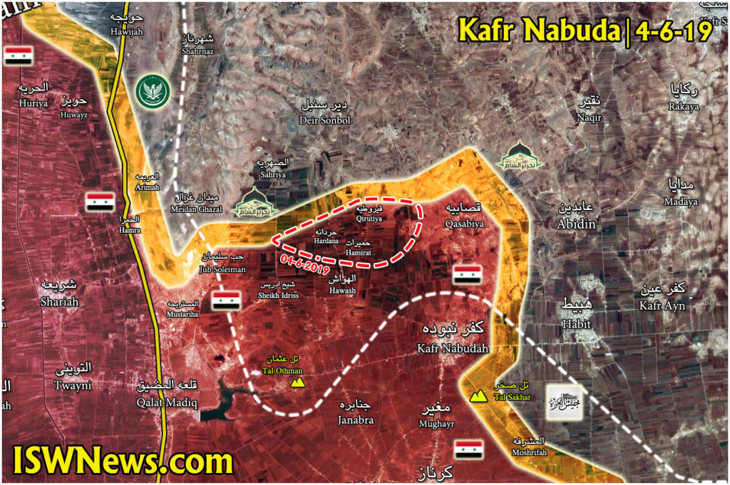Syrian Army Liberates 3 More Villages From Militants Nort Of Kafr Nabudah