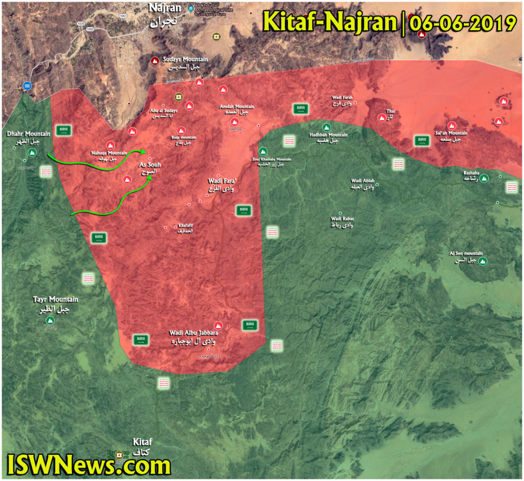 Map Update: Ansar Allah Attack Saudi-led Forces' Positions In Najran