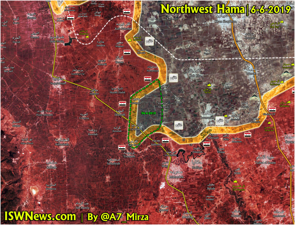 Map Update: Military Situation In Northern Hama After Recent Advance By Militant Groups