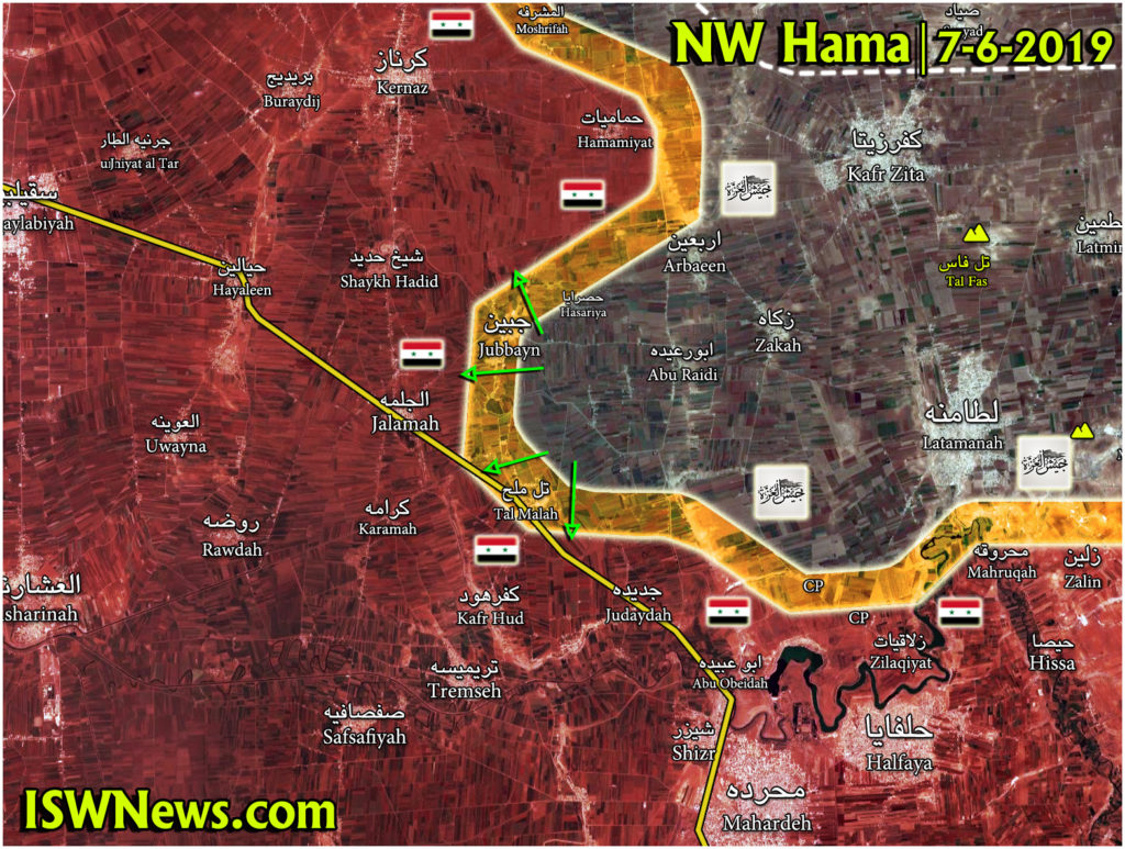 Map Update: Clashes Continue In Northwestern Hama