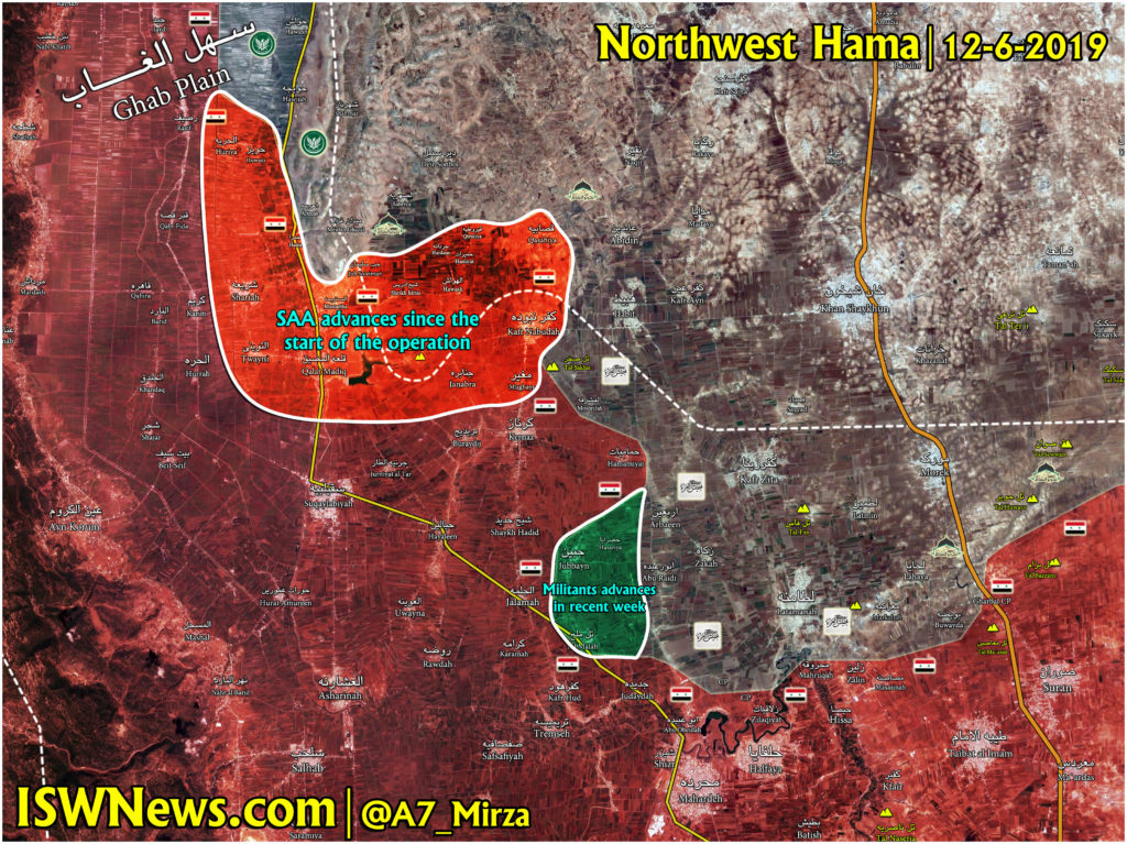 Map Update: Gains And Setbacks Of Syrian Army In Northwestern Hama