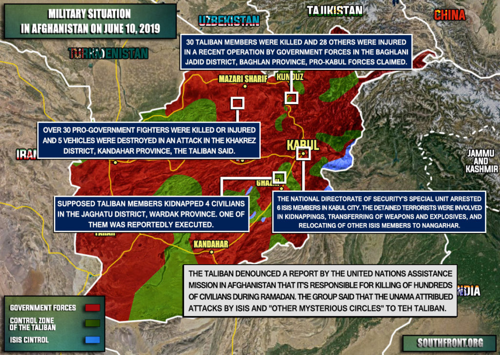 Military Situation In Afghanistan On June 10, 2019 (Map Update)