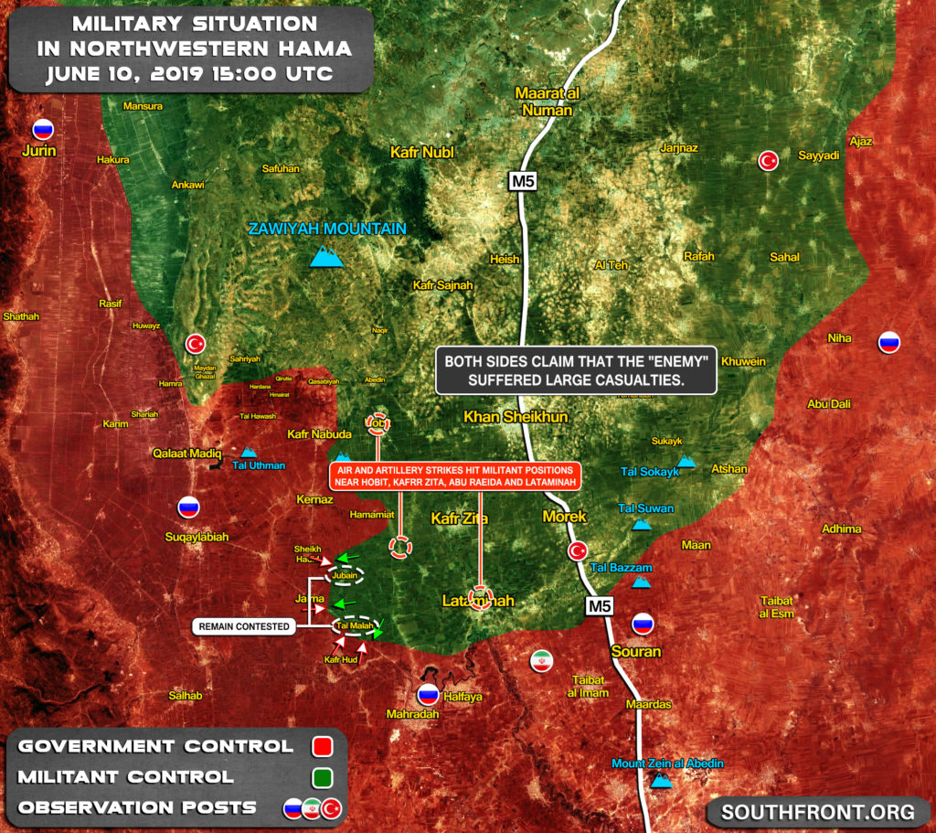 Army Troops Push To Regain Control Of Tal Malah And Jubain From Militants (Map Update)