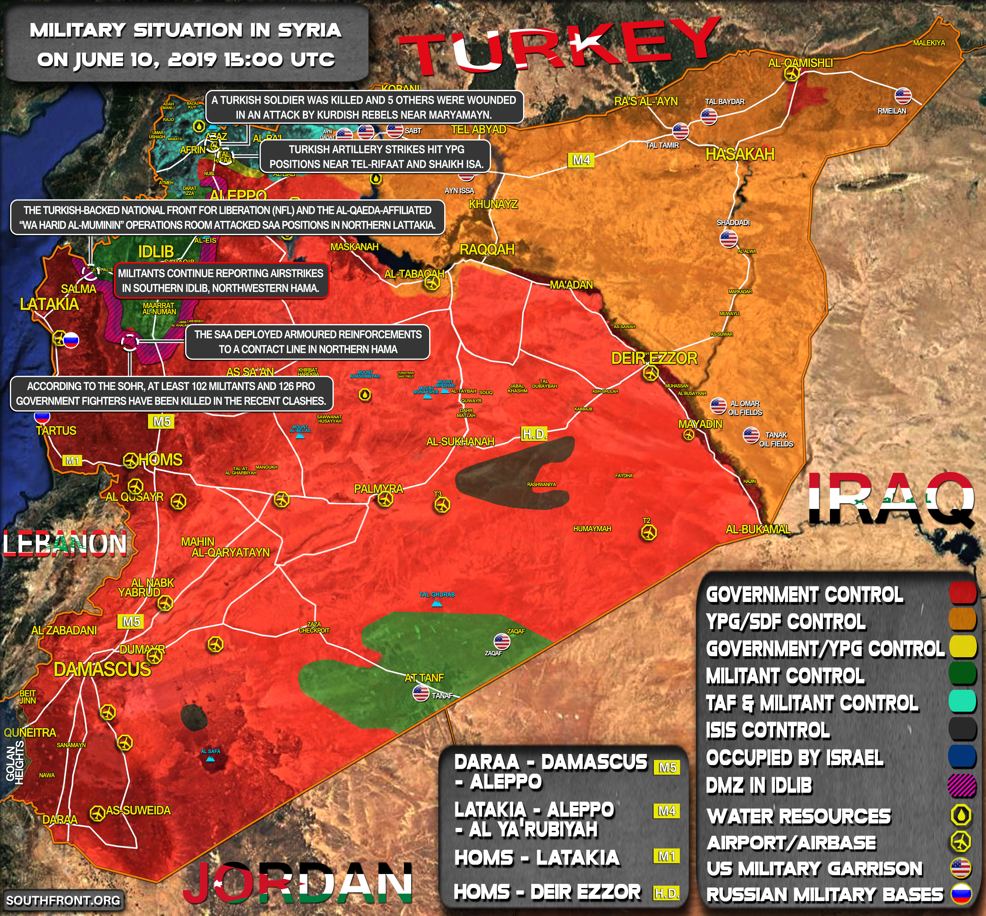 Military Situation In Syria On June 10, 2019 (Map Update) on