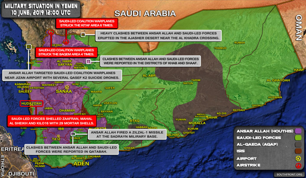 Military Situation In Yemen On June 10, 2019 (Map Update)