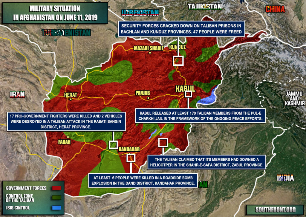 Military Situation In Afghanistan On June 11, 2019 (Map Update)