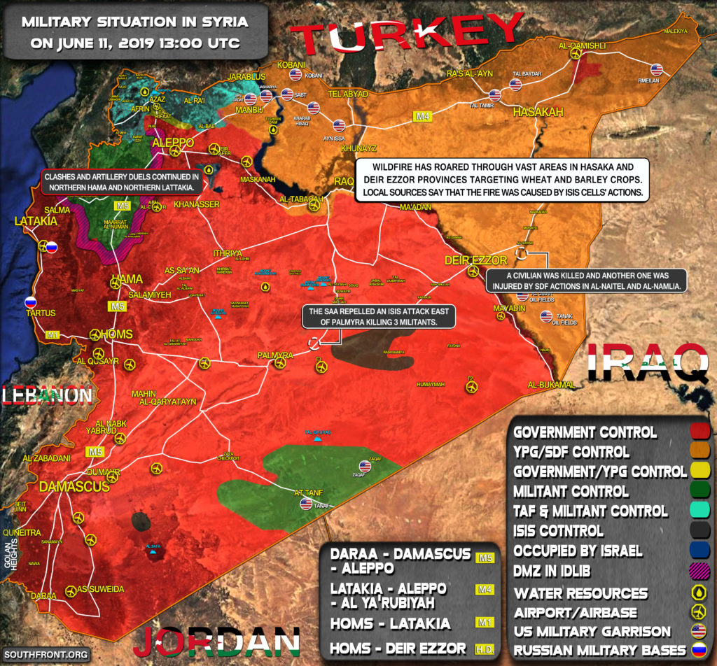 Military Situation In Syria On June 11, 2019 (Map Update)