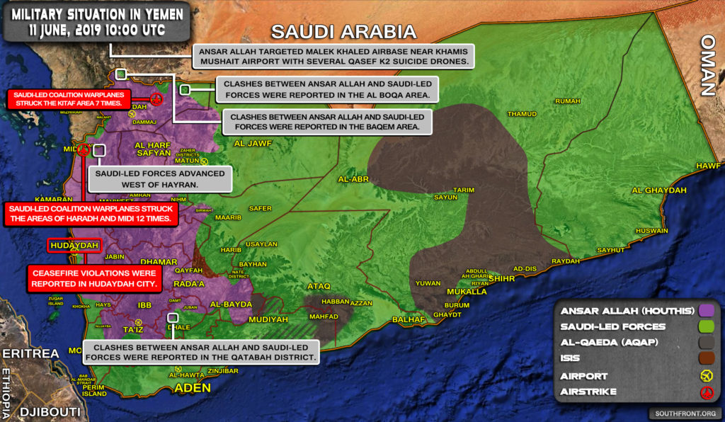 Military Situation In Yemen On June 11, 2019 (Map Update)